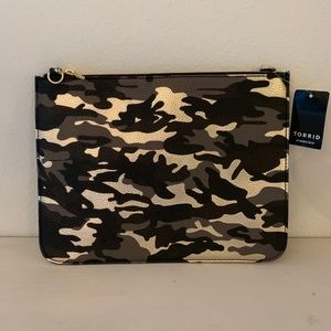 Faux Leather Camo Clutch/Cross Body Bag